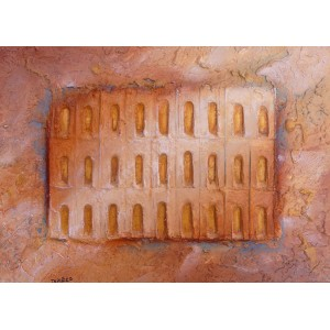Doors of Serenity - Sand steel pigment - Roussillon Provence - Luberon