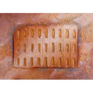 Portes de la Sérénité - Portes ocres - sable acier pigment - Roussillon Provence Luberon - VENDU