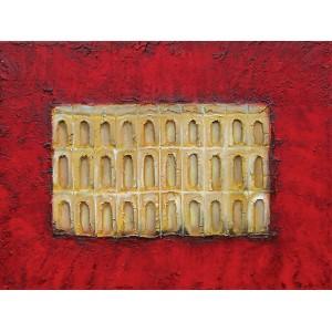 Portes toscanes rouges et or