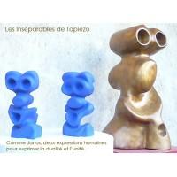 Les inséparables bronze et porcelaine