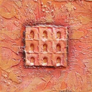 Puertas marrón rojo oro
