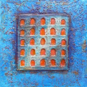 Les portes toscanes bleues
