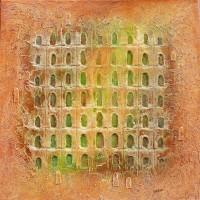 Portes de la Sérénité II - Sable, acier, pigment - Roussillon Provence Luberon - VENDU