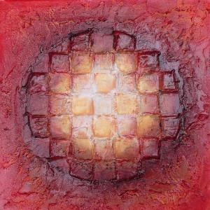 Expansion Cosmique - Le Cosmos de Tapiézo - Peinture de sable et pigment de Roussillon en Provence - Luberon
