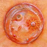 Planete du 'Petit Prince' - peinture couteau pigment - Roussillon