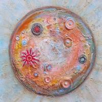 Cité du 'Petit Prince' - Cosmos - Planète terre - peinture pigment Luberon