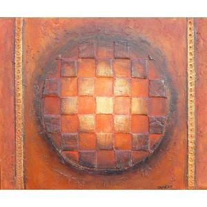 Expansion du Cosmos - sphère - Planète - Peinture pigment du Luberon