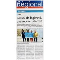 ARTICLE JOURNAL - LE REGIONAL - ENVOL DE LEGERETE