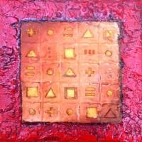 Hiéroglyphes en or